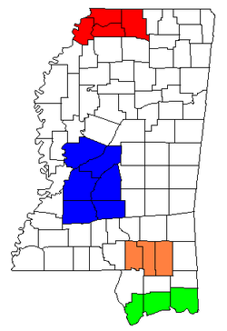 List Of Metropolitan Areas In Mississippi Wikipedia