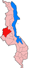 Location of Kasungu District in Malawi