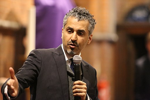Maajid Nawaz speaking at LibDem campaign event