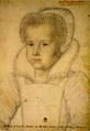 Mademoiselle de Mercœur (Françoise of Lorraine) future Duchess of Vendôme as an enfant by an unknown artist.png