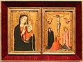 Maestro della madonna strauss, madonna col bambino e crocifissione, 1380 ca.jpg