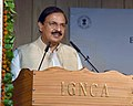 Mahesh Sharma addressing the gathering at an event to inaugurate the Exhibition on the legendary Carnatic Vocalist, Dr. M.S. Subbulakshmi, on the occasion of her Birth Centenary Commemoration, in New Delhi.jpg