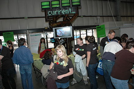 Current TV Booth in San Mateo 2008