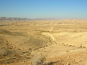 Center of Makhtesh Gadol, Negev, Israel.