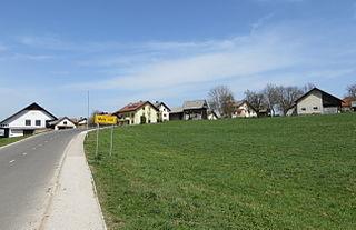 Mala Vas pri Grosupljem Village in Lower Carniola, Slovenia