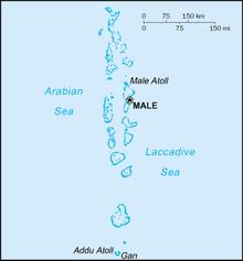Mapa  República das Maldivas