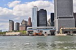 Manhattans Staten Island Ferry Terminal from the harbor 04 (9440173857).jpg