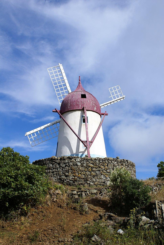 Manuel Gaspar, moinho típico, Santa Cruz da Graciosa, ilha Graciosa, Açores, Portugal