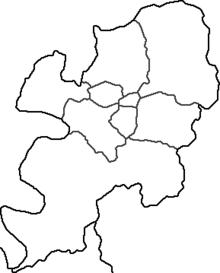 I 7 quartieri e la contea di Taegu.