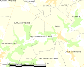 Mapa obce Saint-Germain-sous-Cailly