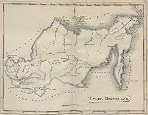 Primorskaya Oblast - Image: Map irk gub 1808