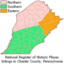 Chester County Map on