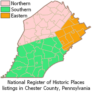National Register of Historic Places listings in northern Chester County, Pennsylvania Wikimedia list article
