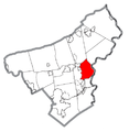 Map of Forks Township, Northampton County, Pennsylvania Highlighted.png
