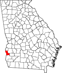 Map of Georgia highlighting Clay County