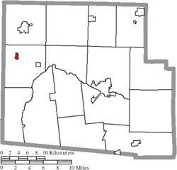 Location of Alger in Hardin County
