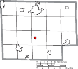 Location of North Fairfield in Huron County