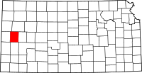 Map of Kansas highlighting Wichita County
