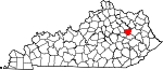 State map highlighting Menifee County