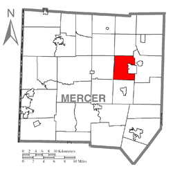 Location of Lake Township in Mercer County