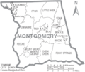 Map of Montgomery County North Carolina With Municipal and Township Labels.PNG