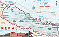 Map of Nepal showing location of Lumbini.jpg