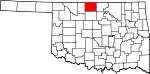 State map highlighting Grant County