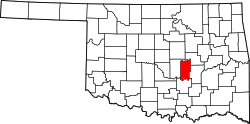 Map of Oklahoma highlighting Seminole County.svg