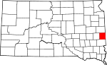 State map highlighting Moody County