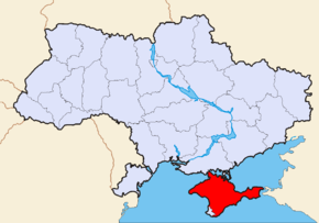 Map of Ukraine political simple Krim alternative.png