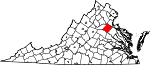 State map highlighting Spotsylvania County