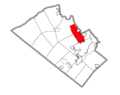 Map of Whitehall Township, Lehigh County, Pennsylvania Highlighted.png