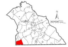 Map of York County, Pennsylvania Highlighting West Manheim Township.PNG