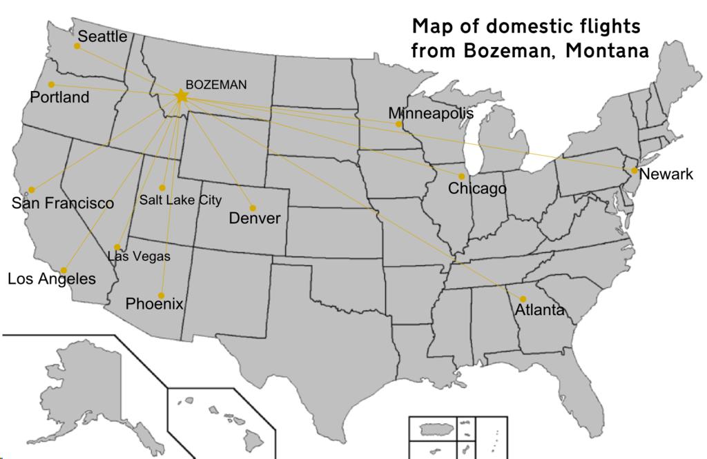 Bozeman Montana Map Montana Map - Mt us map