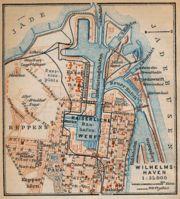 Stadtplan von Wilhelmshaven, 1910