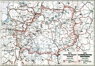Belarusian People's Republic - Land claimed by the BNR at the time.