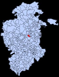 Municipa loko de Barrios de Colina en Burgosa provinco
