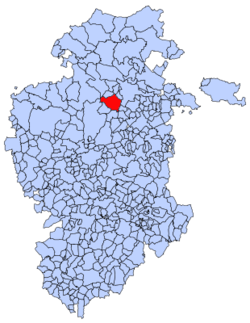 Municipal location of Poza de la Sal in Burgos province