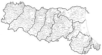 Province Emilia Romagna Cartina Politica.Emilia Romagna Wikipedia