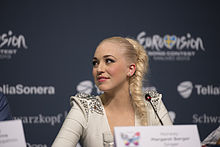 Margaret Berger, ESC2013 press conference 03.jpg