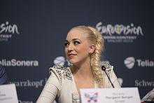 Margaret Berger, ESC2013 press conference 03.jpg