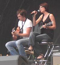 Marie Lindberg på Rix FM-festivalen i Norrköping, augusti 2007.