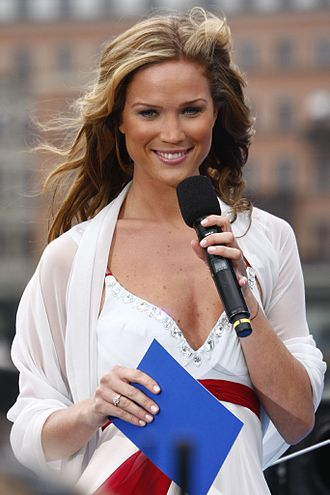 Marie Serneholt - Serneholt in 2009 hosting Sveriges Television's broadcast of the National Day of Sweden