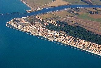 Marina di Pisa - Aerial view of Marina di Pisa