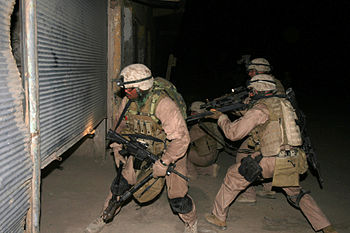 English: FALLUJAH, Iraq - An assault team from...