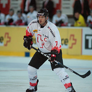 Mark Streit - Streit with the Swiss national team in 2012.