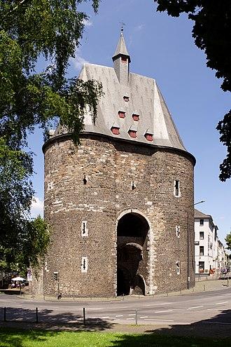 Fortified gateway - Marching Gate (double gate castle) in Aachen
