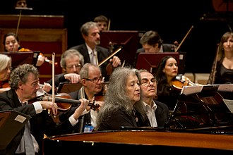 Martha Argerich - Argerich during a concert given in the Néstor Kirchner Cultural Centre, July 2015.