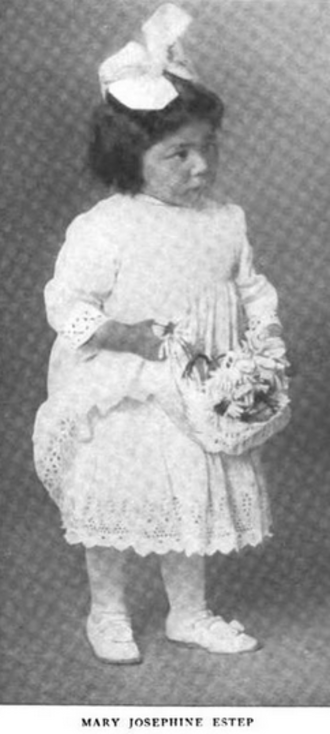 Mary Jo Estep - Mary Jo Estep, about five years after surviving the Battle of Kelley Creek; from a 1916 publication.