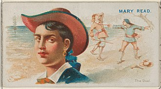 Mary Read - Image: Mary Read, The Duel, from the Pirates of the Spanish Main series (N19) for Allen & Ginter Cigarettes MET DP835033